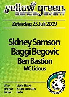Yellow Green Dance Event (flyer)
