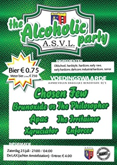 flyer The alcoholic party