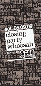 Closing party Whoosah (flyer)