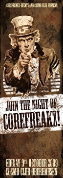 Join the night of corefreakz (flyer)