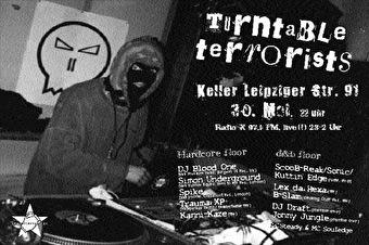 Turntable Terrorists (flyer)