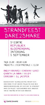 Dare2Share Strandfeest (flyer)