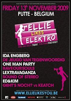 Ellie likes elektro (flyer)