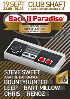 Back II Paradise Official City of Justice Afterparty (flyer)