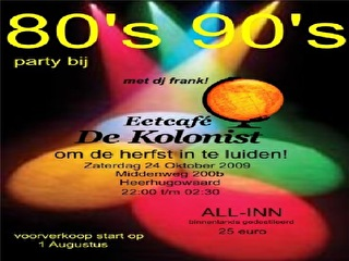 80's & 90's Party (flyer)