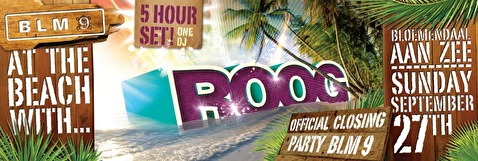 Closing Party BLM9 at the beach with Roog (flyer)