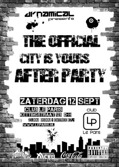 The official City is Yours after party (flyer)