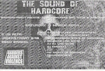 The Sound Of Hardcore (flyer)