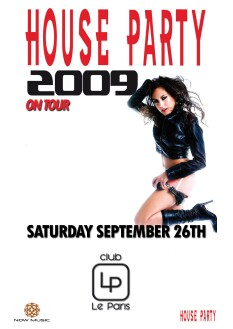 House Party on Tour 2009 (flyer)