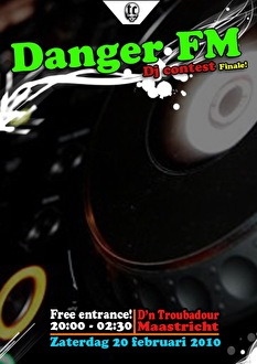 DangerFM DJ contest (flyer)