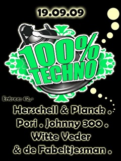 100% Techno (flyer)