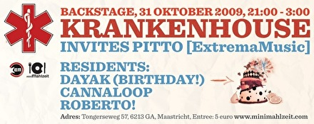 Krankenhouse invites Pitto (flyer)