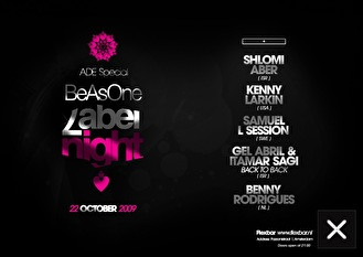 Be as one label night (flyer)