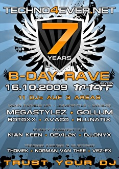 7 Jahre Techno4ever (flyer)