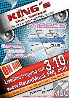 King's meets RauteMusik.FM (flyer)