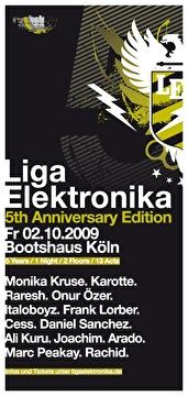 5 Years Liga Elektronika (flyer)