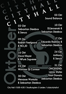 Club City Hall (flyer)
