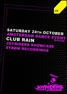 Joyriders showcase & Strom Recordings (flyer)