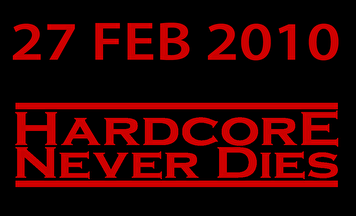Hardcore never dies (flyer)