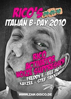 Rico's Italian B-day 2010 (flyer)