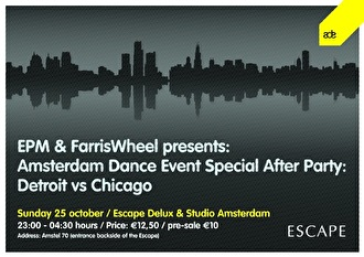 Detroit vs Chicago ADE Special Afterparty (flyer)