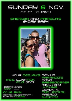 Sherwin & Pamela's B-Day Bash (flyer)