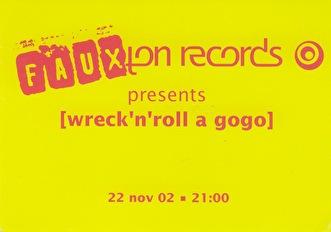 Wreck 'n' Roll A Gogo (flyer)