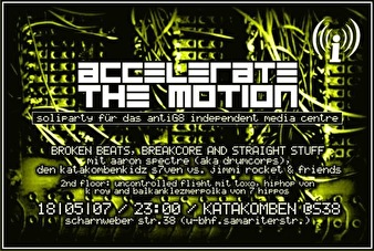 Accelerate The Motion (flyer)
