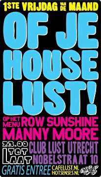 Of je House Lust! (flyer)