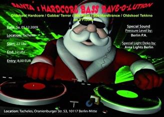 Santa's Hardcore Bass Rave-O-Lution (flyer)