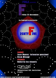La Famiglia presents 2twenty five (flyer)