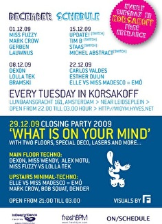 What is on your mind on tuesday night ? (flyer)
