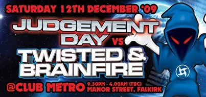 Twisted & Brainfire vs Judgement Day (flyer)