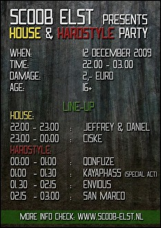 House & Hardstyle Party (flyer)