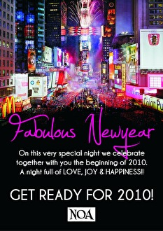 A Fabulous New Year (flyer)