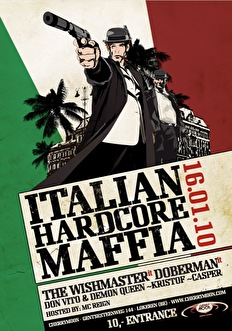 Italian Hardcore Maffia vs Chaos (flyer)