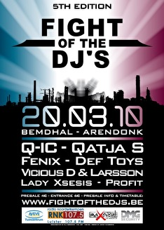 Fight Of The DJ's (flyer)
