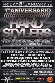Aniversario Hardstylers (flyer)