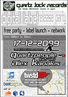 Quartz Lock Records Digital Label Release party (flyer)