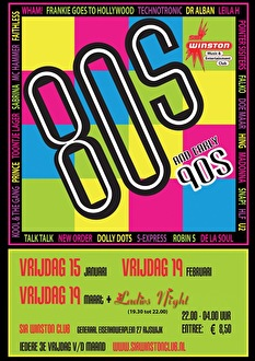 80's & 90's Dance Night (flyer)
