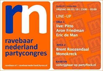 Ravebaar Nederland Partycongres (flyer)