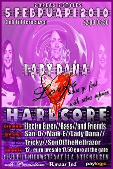 Lady Dana Loves Harcore (flyer)