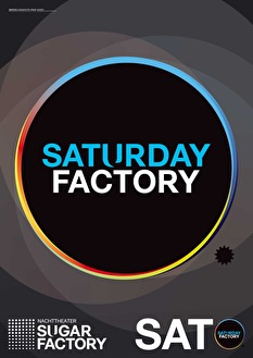 Saturday Factory Mistake Music label night (flyer)