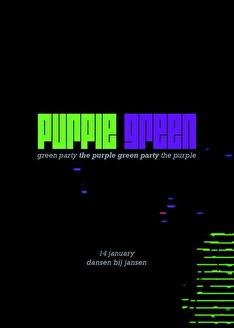Purple Green Party (flyer)