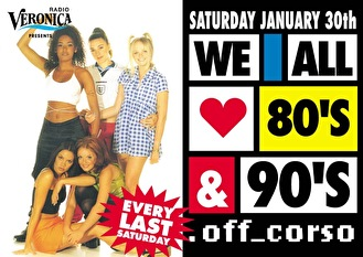 We All Love 80' & 90's (flyer)