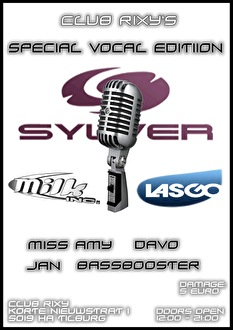 Rixy's Special Vocal Edition (flyer)