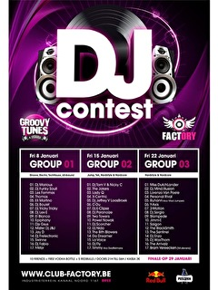 Dj Contest Factory vs Groovytunes (flyer)