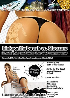 Kinky On The Beach v/s Sleazers (flyer)
