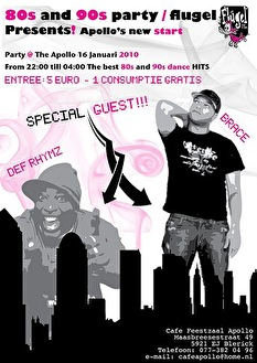 80's and 90's party (flyer)
