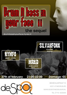 Drum n bass in your face! (flyer)